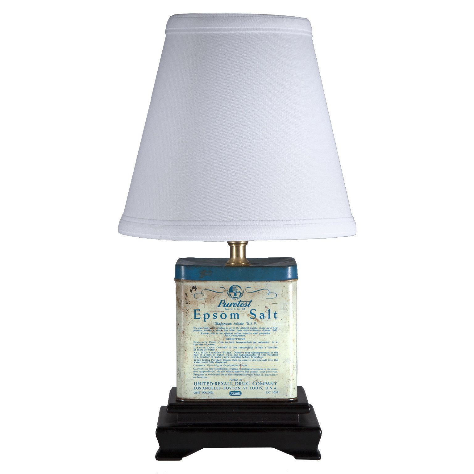 Small vintage epsom salt tin lamp short table lamps pinterest small vintage epsom salt tin lamp aloadofball Gallery