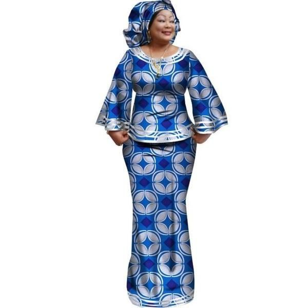 African Style Women Top and Long Skirt For with matching X10975