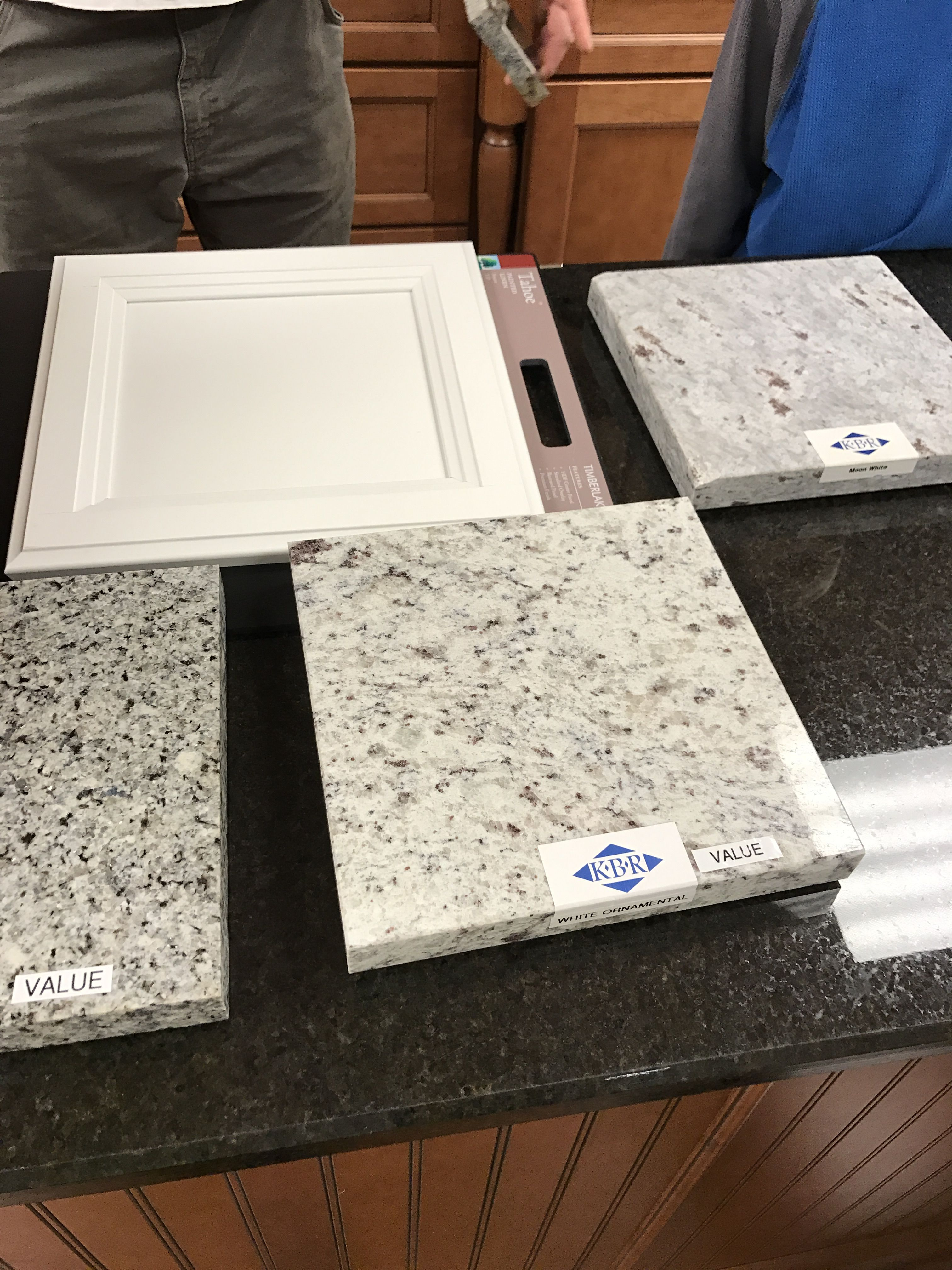 White Cabinets With Right Moon White Granite Bottom