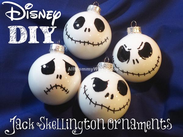 Diy jack skellington ornaments video the nightmare - Jack skellington christmas decorations ...