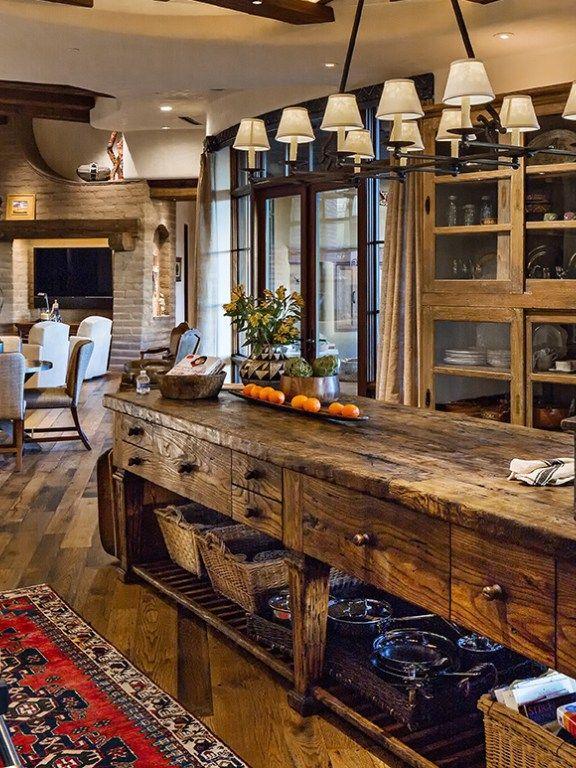 Custom Wood Kitchen Islands, wood countertop, natural wood