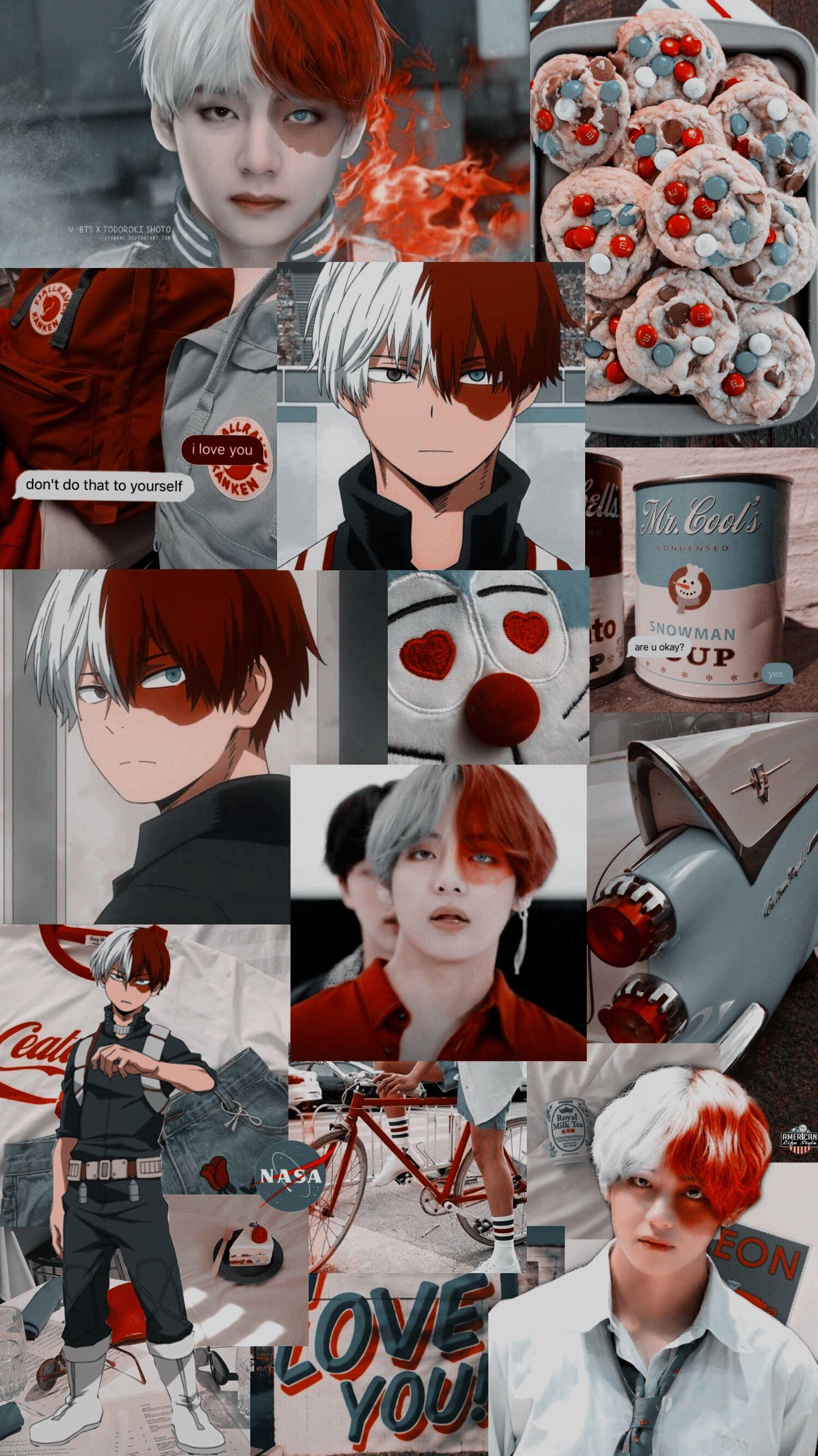 taehyung v bts kpop anime wallpaper bokunohero