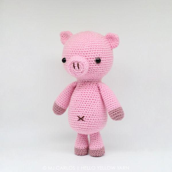 Curly The Pig Amigurumi Pattern By Hello Yellow Yarn Amigurumi Impressive Crochet Pig Pattern