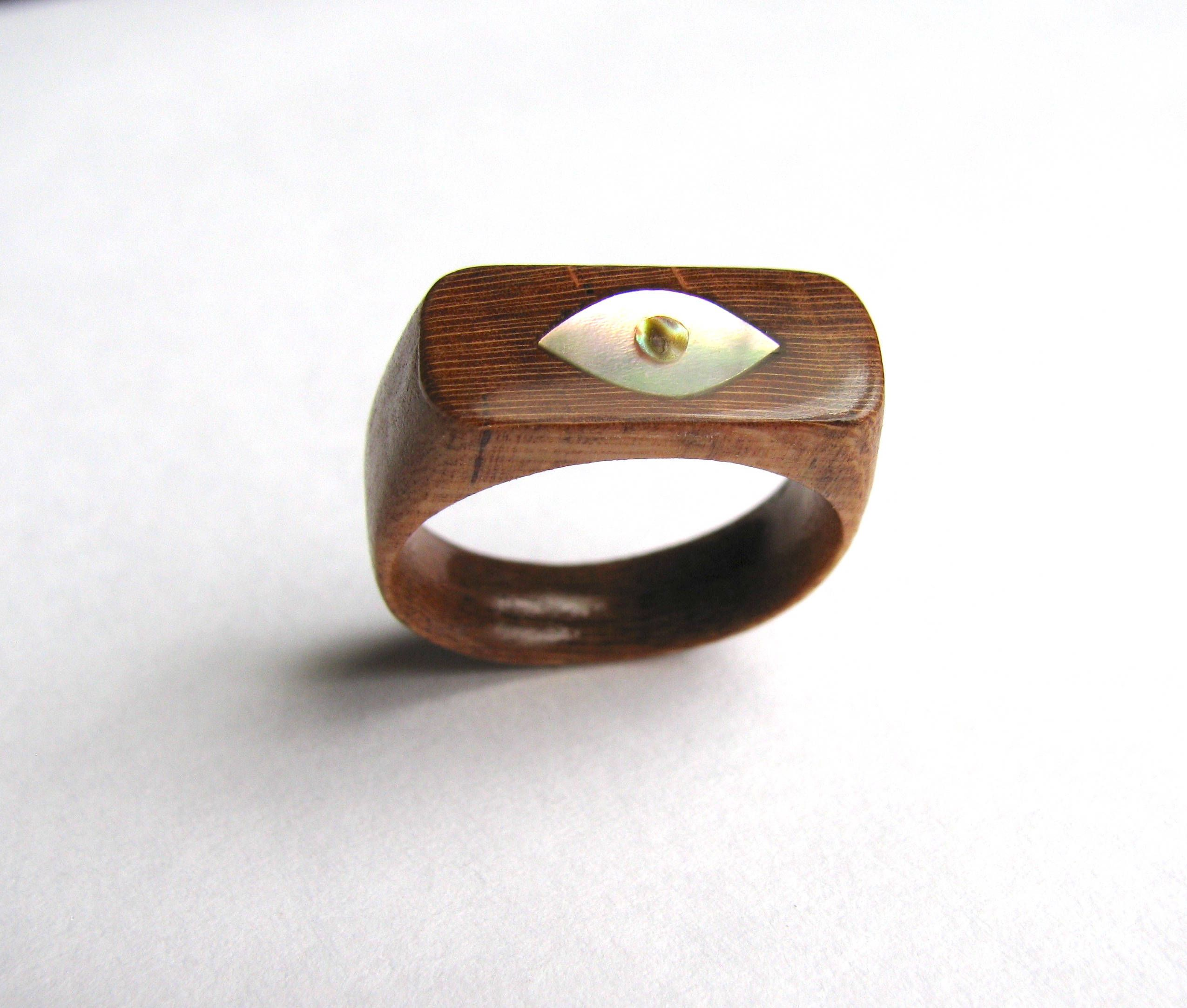 tan products abalone co devocean ring wood grain rings drift wedding