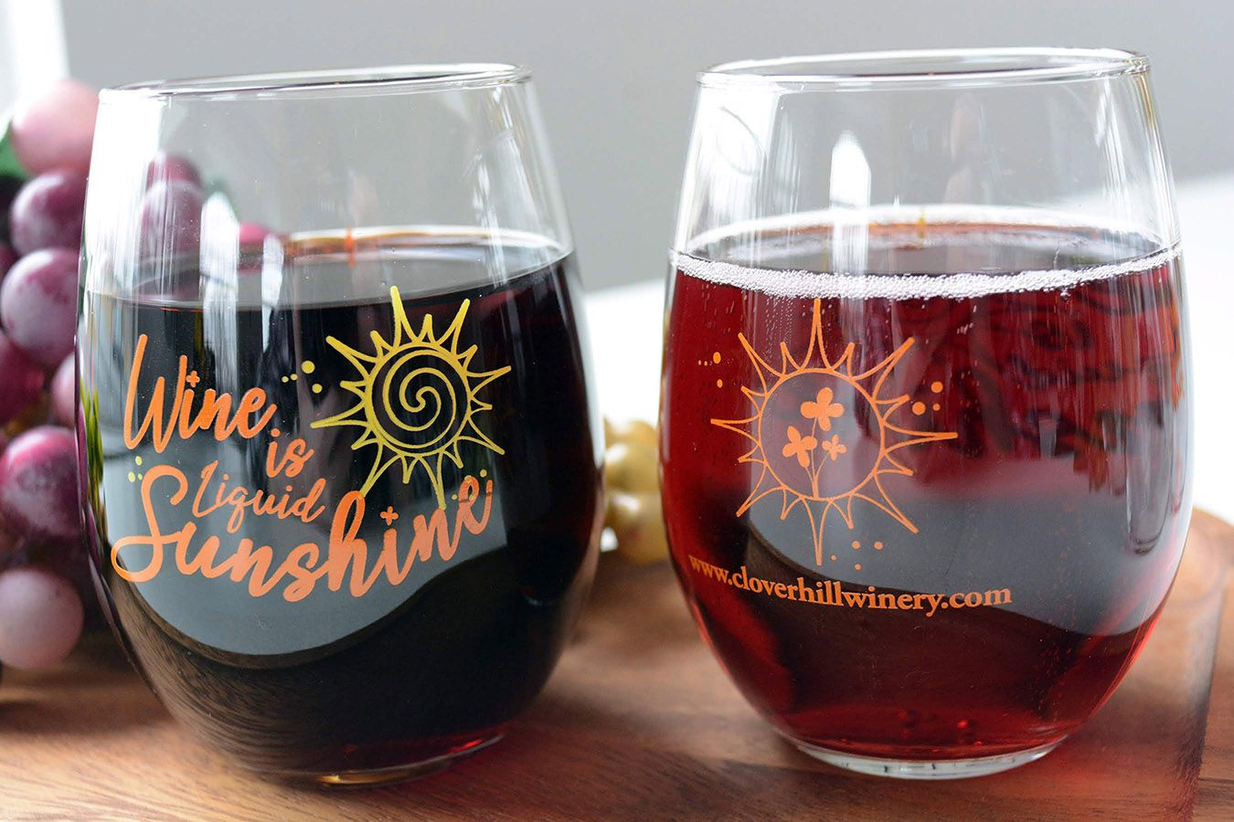 Stop By Any Of Our Four Clover Hill Vineyards Winery Locations And Pick Up Our New Limited Edition Stemless Stemless Wine Glasses Wine Gifts For Wine Lovers