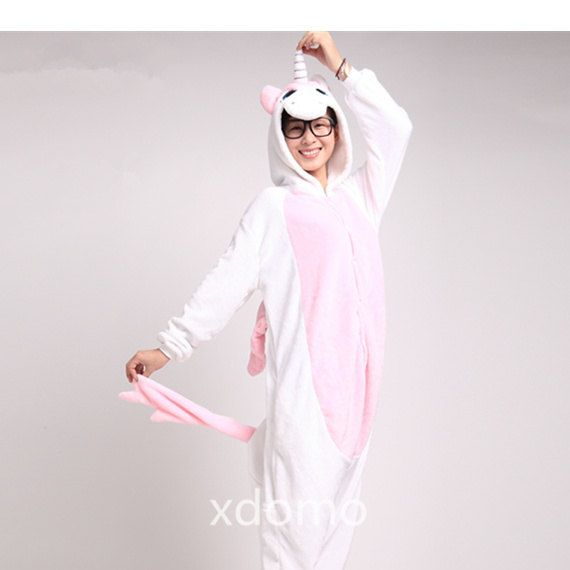 Unicorn onesie! Adult Footie Pajamas Adult Footed Pajamas for Women Men by  xdomo 95a425047