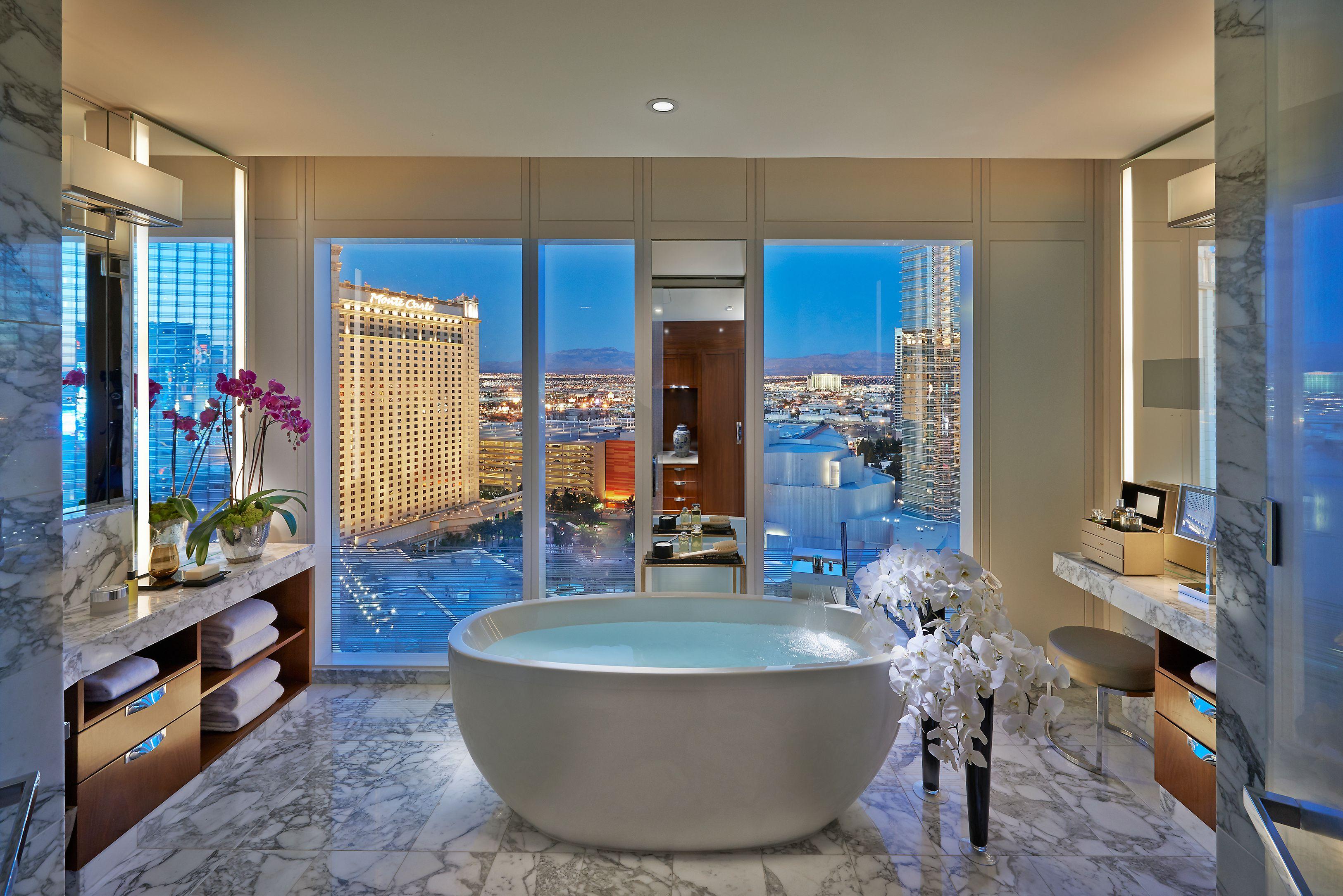 Mandarin Hotel Las Vegas bathroom | Mandarin Oriental LAs Vegas apex ...