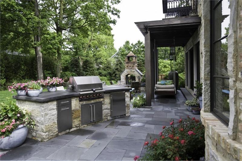 Outdoor kitchen on patio Kitchen Ideas Pinterest Kitchens and
