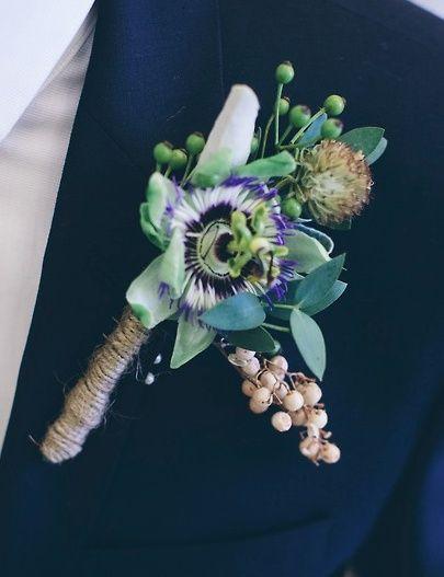 Passion Flower Boutonniere Passion Flower Buttonhole Flowers Wedding Flowers Flower Shop