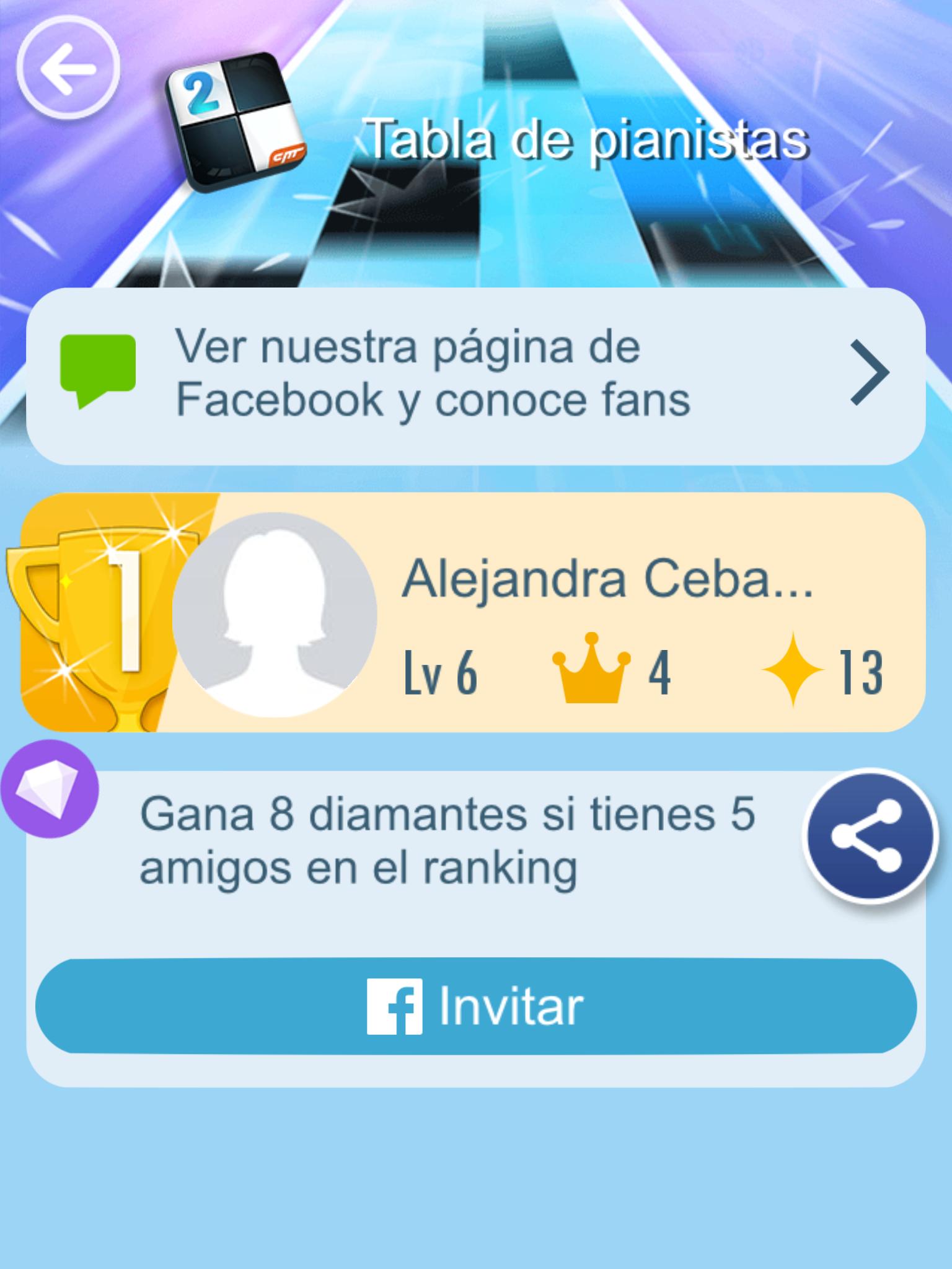 He derrotado 0 amigos en Piano Tiles 2 como el No. 1 en el ranking. ¿Me vences?->http://s.p2.cmcm.com/transfer.html