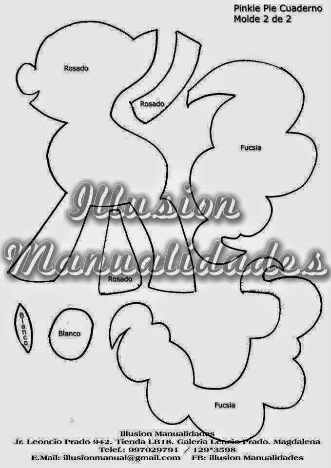Capa de caderno my little pony #eva #moldesdeeva #molde #artesanato ...