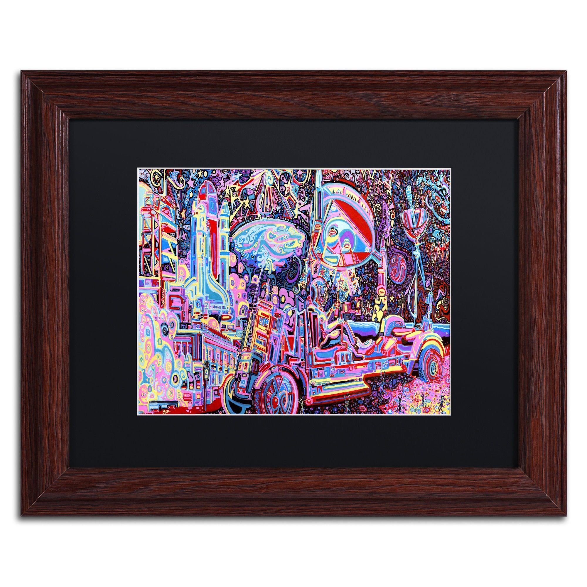 Josh Byer \'Moon Buggy\' Matted Framed Art | Products | Pinterest ...