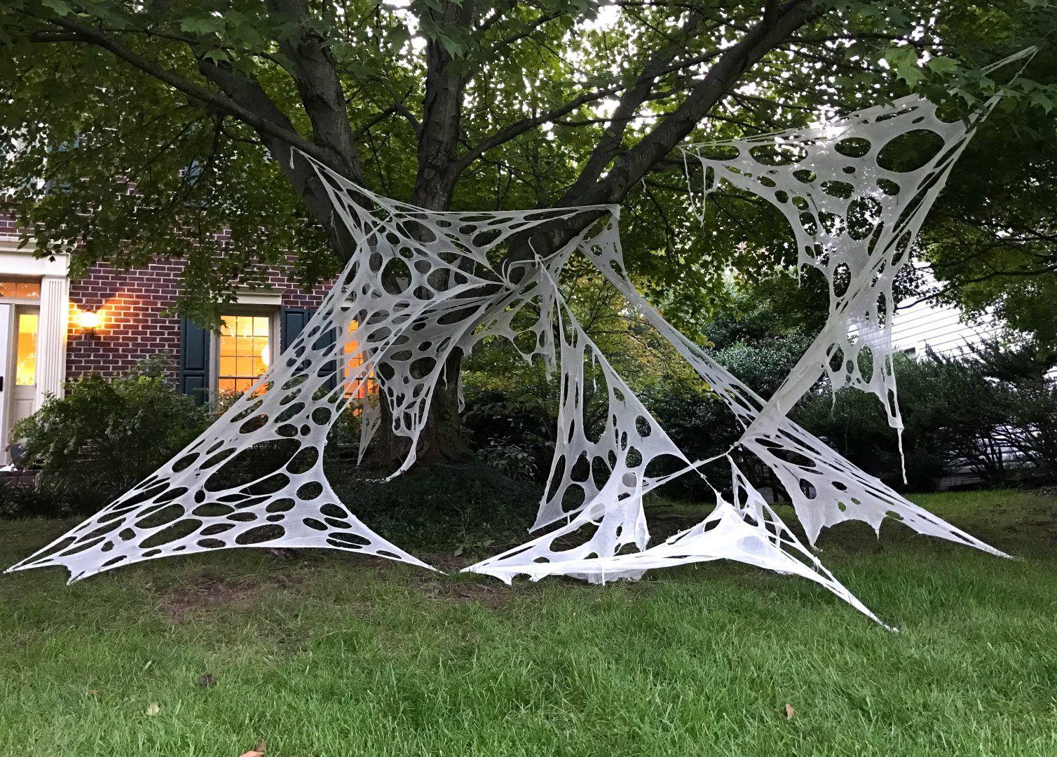 How To Make Giant Halloween Spider Webs Diy Halloween Spider