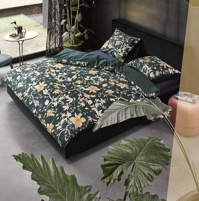 Bring den Floral-Trend auch in dein Schlafzimmer! Die