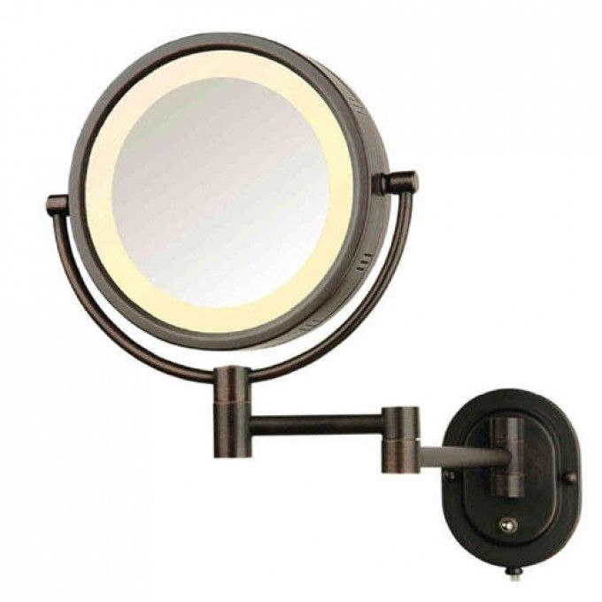 Make Up Mirror Halo Swinging Lighted Vanity Mirror Bathroom Mirrors Bathroom Wall Mounted Makeup Mirror Lighted Wall Mirror Wall Mounted Mirror