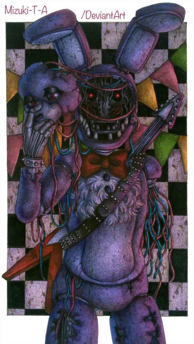 A Faceless Guitarist Withered Bonnie Fnaf 2 By Mizuki T A Fnaf Art Fnaf Drawings Fnaf Wallpapers