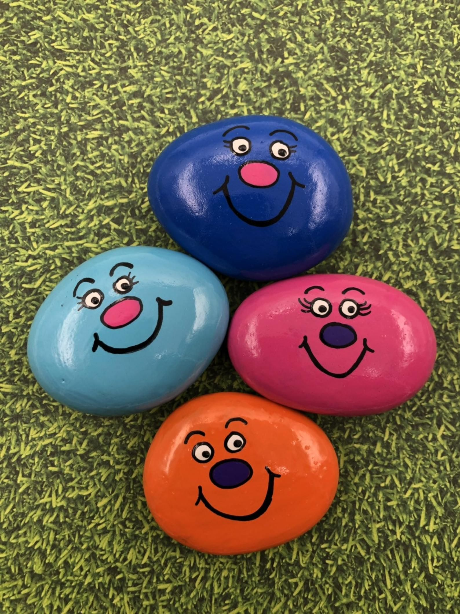 Photo of Pocket Rocks, Silly Stones, Painted Rocks, Pocket Stone, Comfort Stones, Pocket Fidget, Gift for Kids, Gift for Children, Back to School