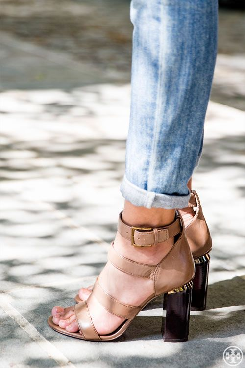 3d7ccf029a97c Tory Burch Jones High-heel Sandal — a sliver of gold and a high stacked heel  to give your day look a boost
