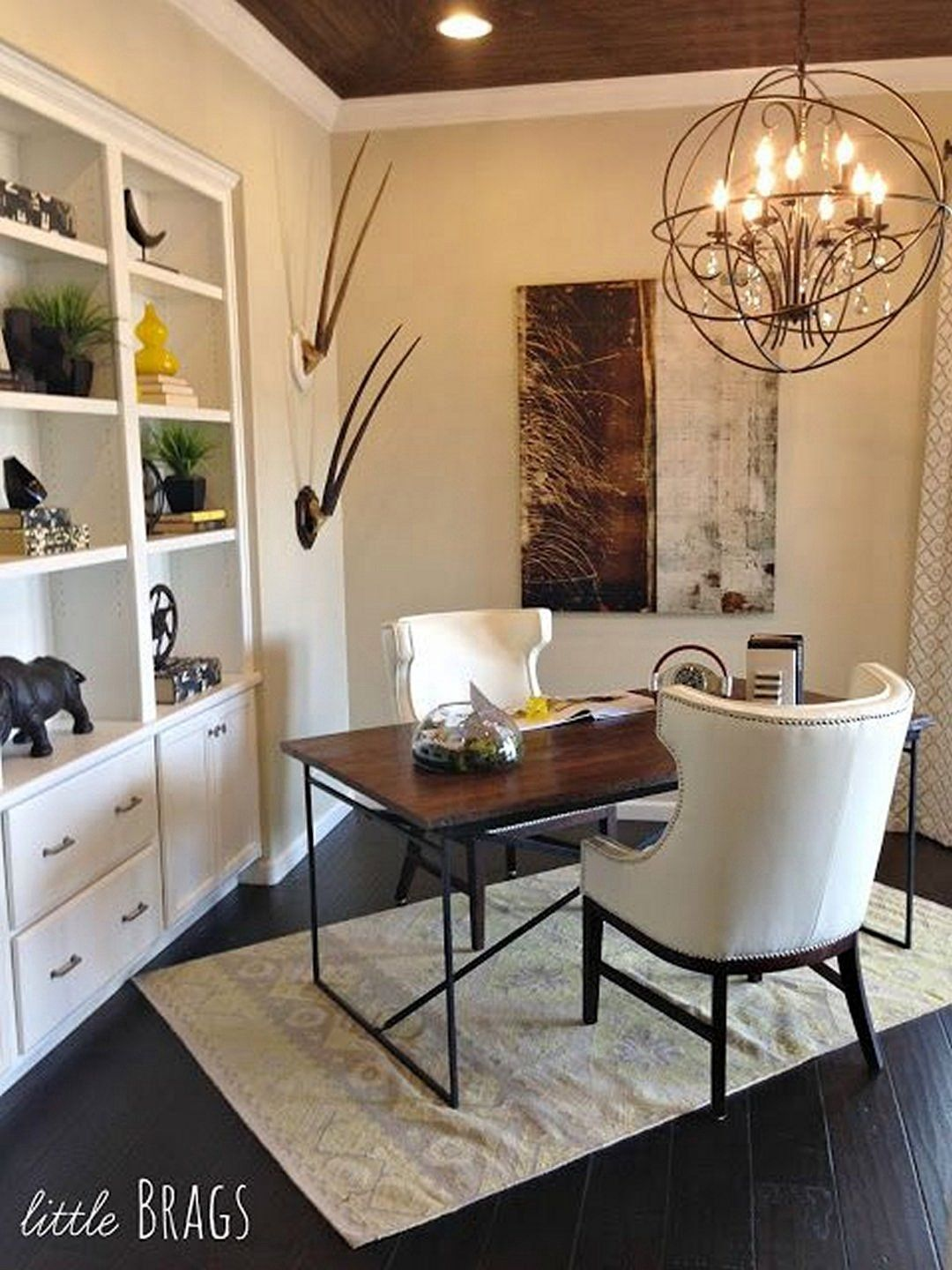 Cool home office design idea  like the angled layout also beautiful ideas new pinterest rh