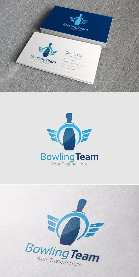 Bowling Team Logo Template 로고 디자인, 로고