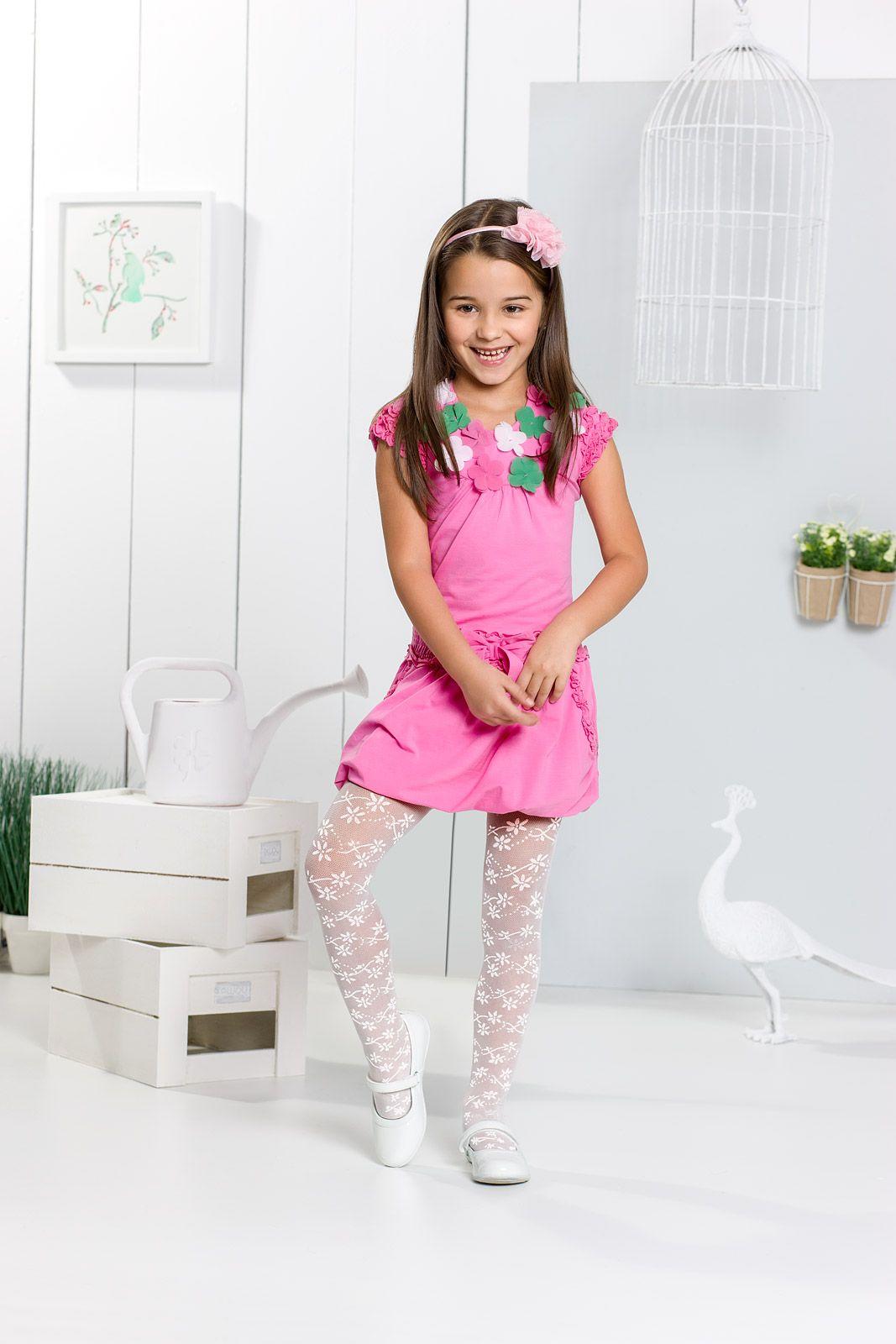 Ninka 01 tights kids girl patterned flowers spring summer spring summer collection for - Monalisa moda infantil ...