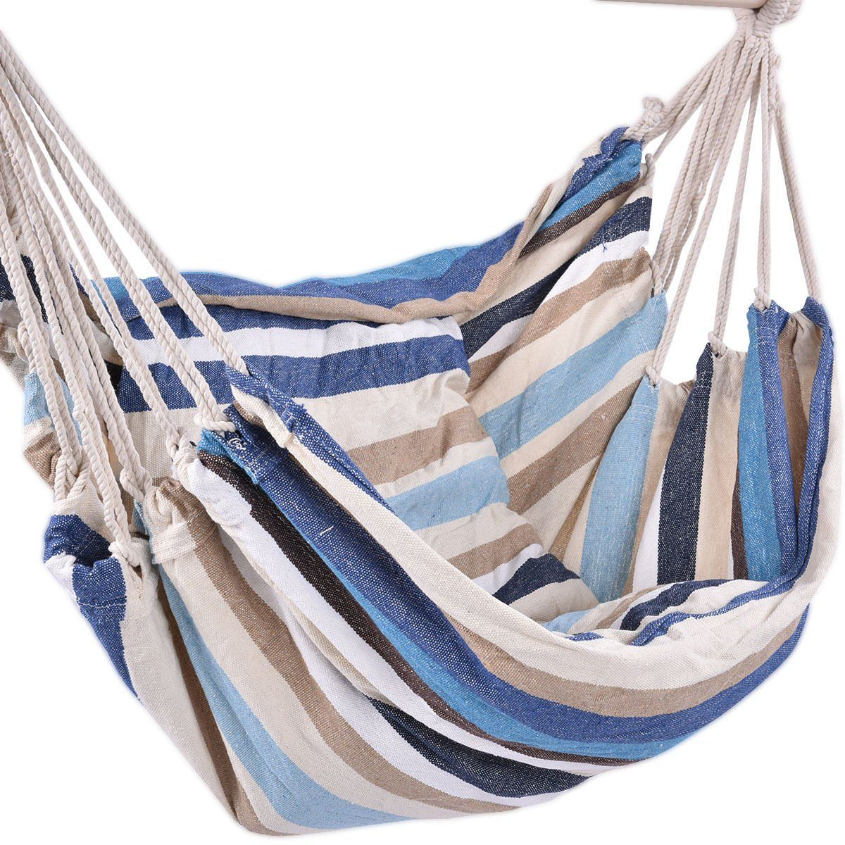 Deluxe Hammock Rope Chair Porch Yard Tree Hanging Air