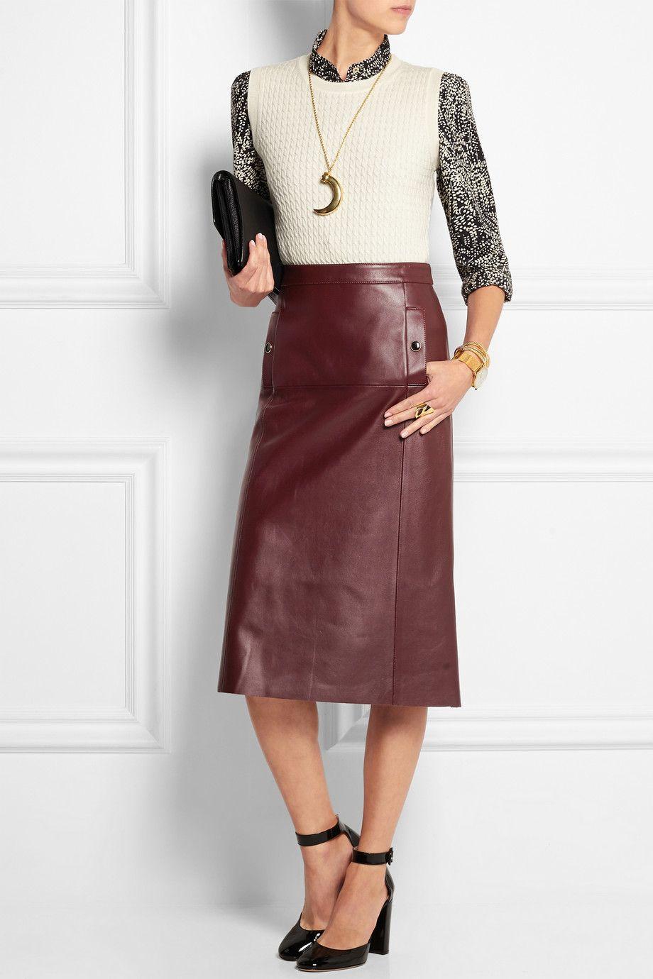 Vanessa Seward|Absolu leather skirt|NET-A-PORTER.COM