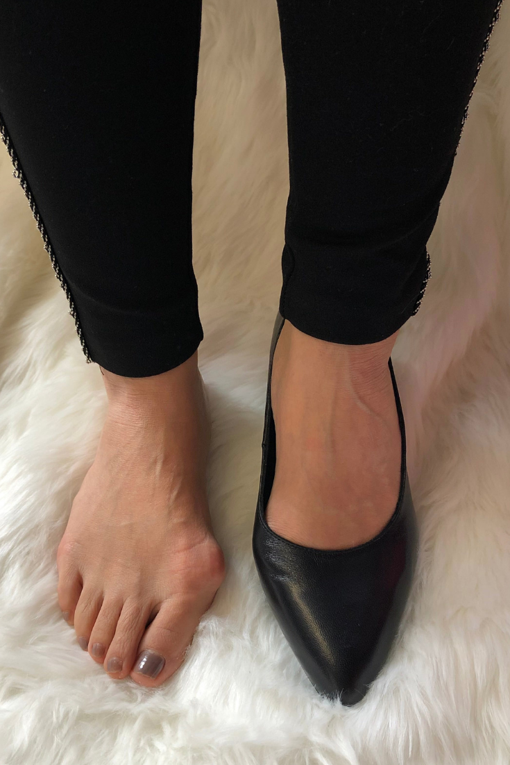 Leather block heels, Wide fit shoes