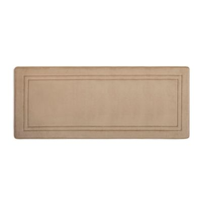 Smart Dry 24 X 58 Memory Foam Bath Runner In Deep Linen Memory