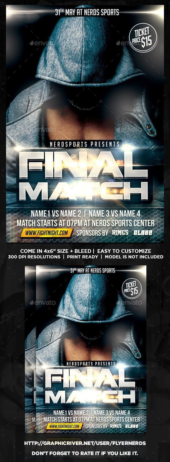 Fight Match Sports Flyer for $7 #PrintTemplate #design #PrintDesign #graphic #DesignSet #EventFlyer #sets #collections #event #SportFlyer #GraphicResources #designs #Envato #template #graphicdesign #flyer #DesignResources #FlyerTemplate #sport #FlyerTemplates