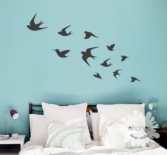 These adorable Flying Birds wall decals will add special touch to