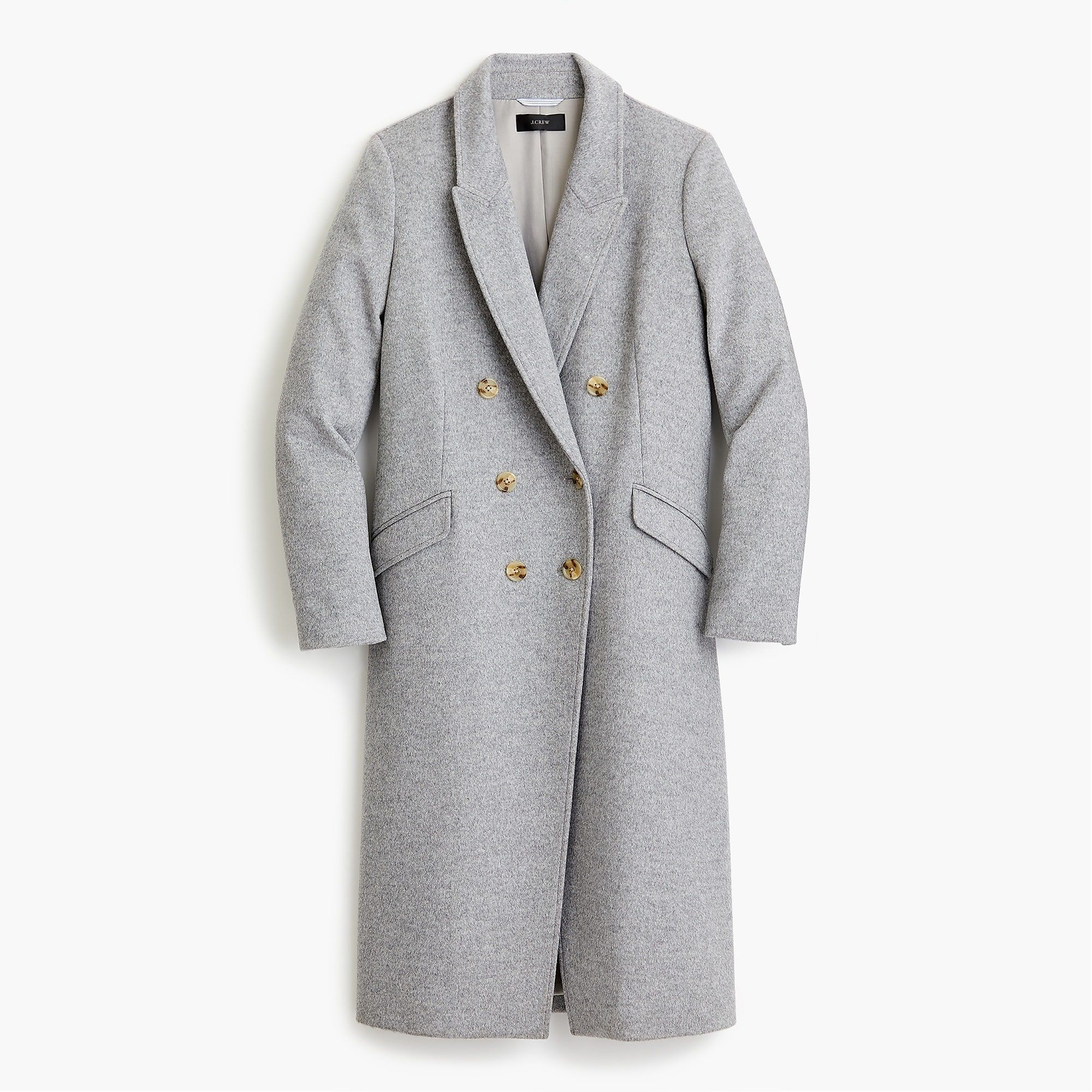 Long Double Breasted Topcoat In Wool Cashmere Women Coats Jackets J Crew Clothing Blogs Double Breasted Outerwear Women