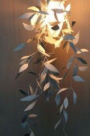 Itse tehty Garland valaisin tuikun kuori askartelu