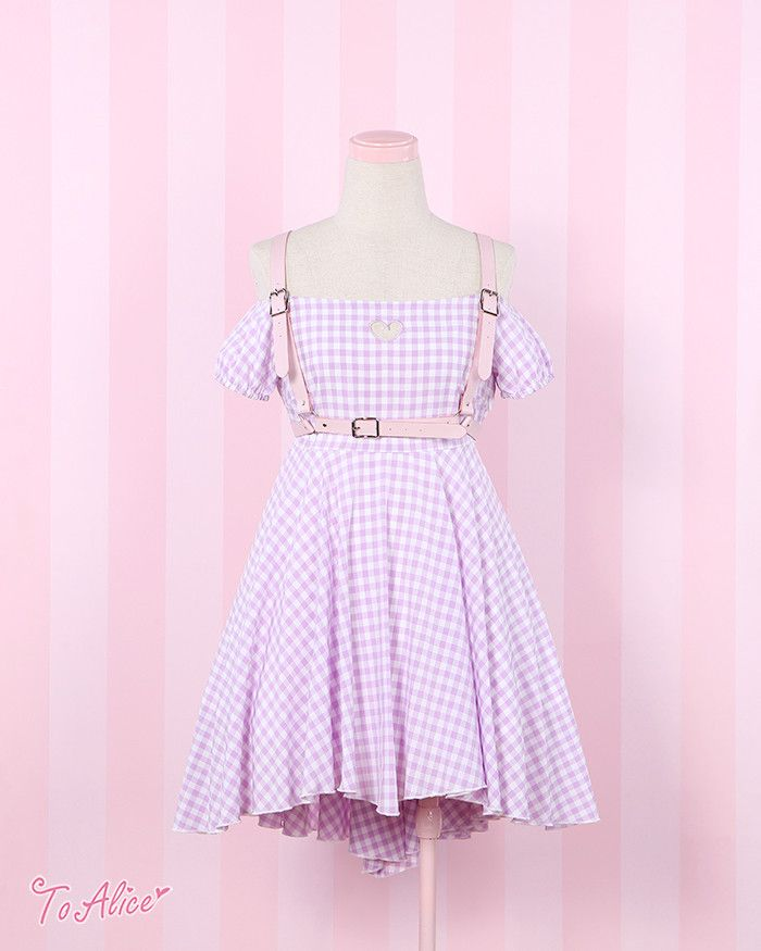 [To Alice] C046- bound relented your adorable plaid dress - Taobao