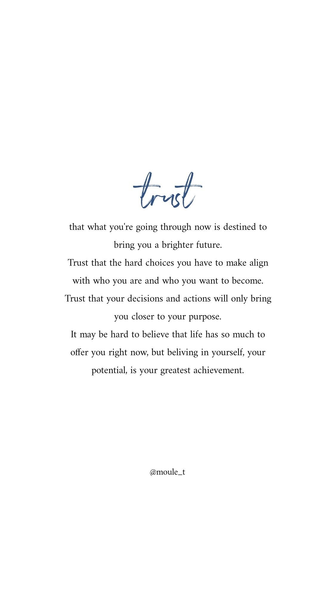 Trust that your journey is leading you to a brighter future