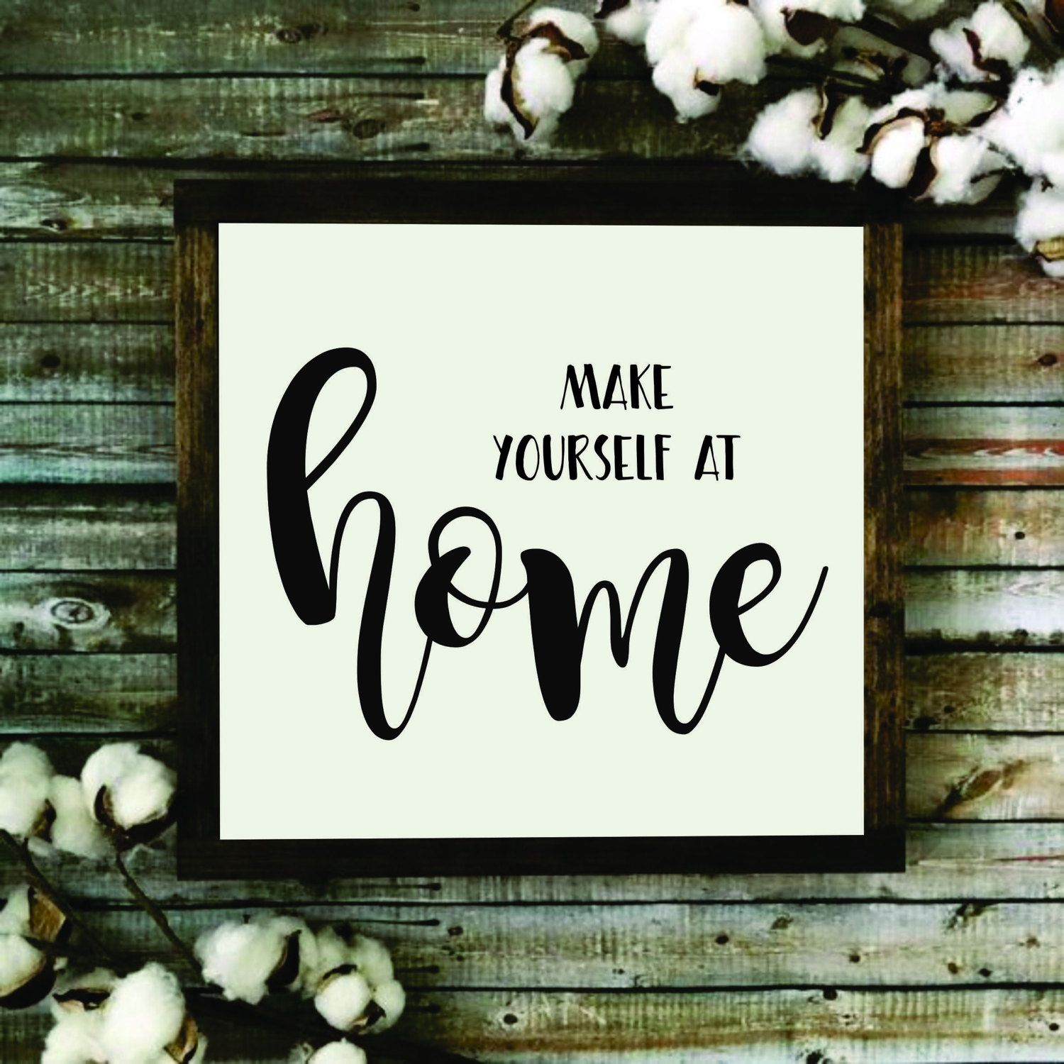 HOME Quotes Framed Wooden Sign