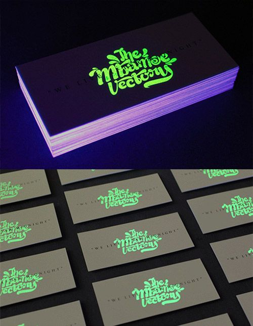 30 uniquely designed business cards pinterest business cards glow in the dark business card colourmoves