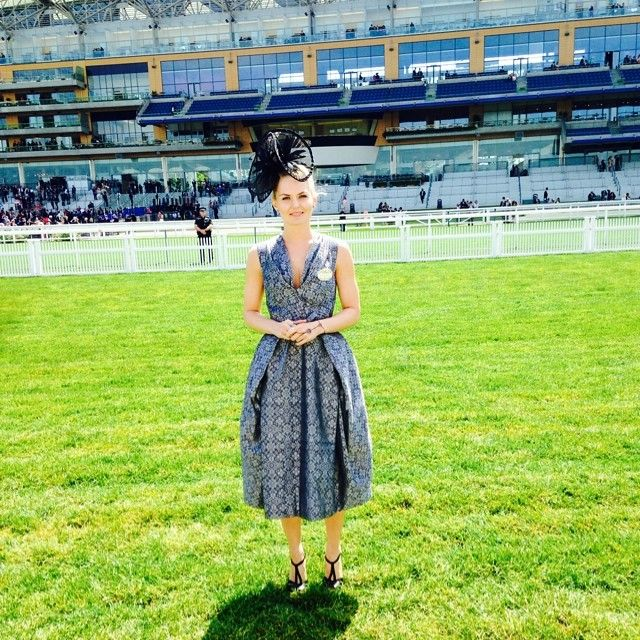 Jennifer Morrison - Amazing day at the Royal Ascot yesterday! Thank you @cameronDecades for the gorgeous dress! (Didit Hediprasetyo From @camerondecades private collection )