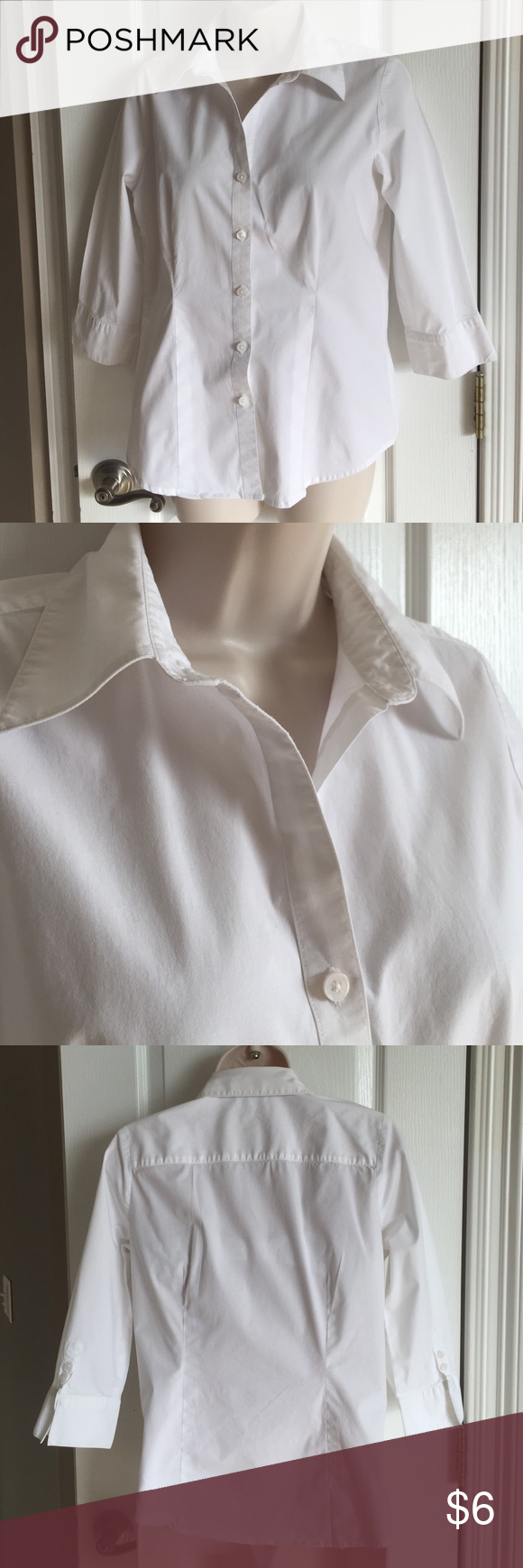 Kim Rogers S 3/4 sleeves, EUC from a non-smoking home Kim Rogers Tops Button Down Shirts