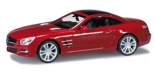 Mercedes-Benz SL-Klasse met. - Street cars - Car models - Die-cast | Hobbyland Scale model car made of plastic in 1:87 scale manufactured by HERPA.  It is just a small version of a real car suitable for collectors.  Handmade. Suitable for building railroad diorama.  Composition: plastic