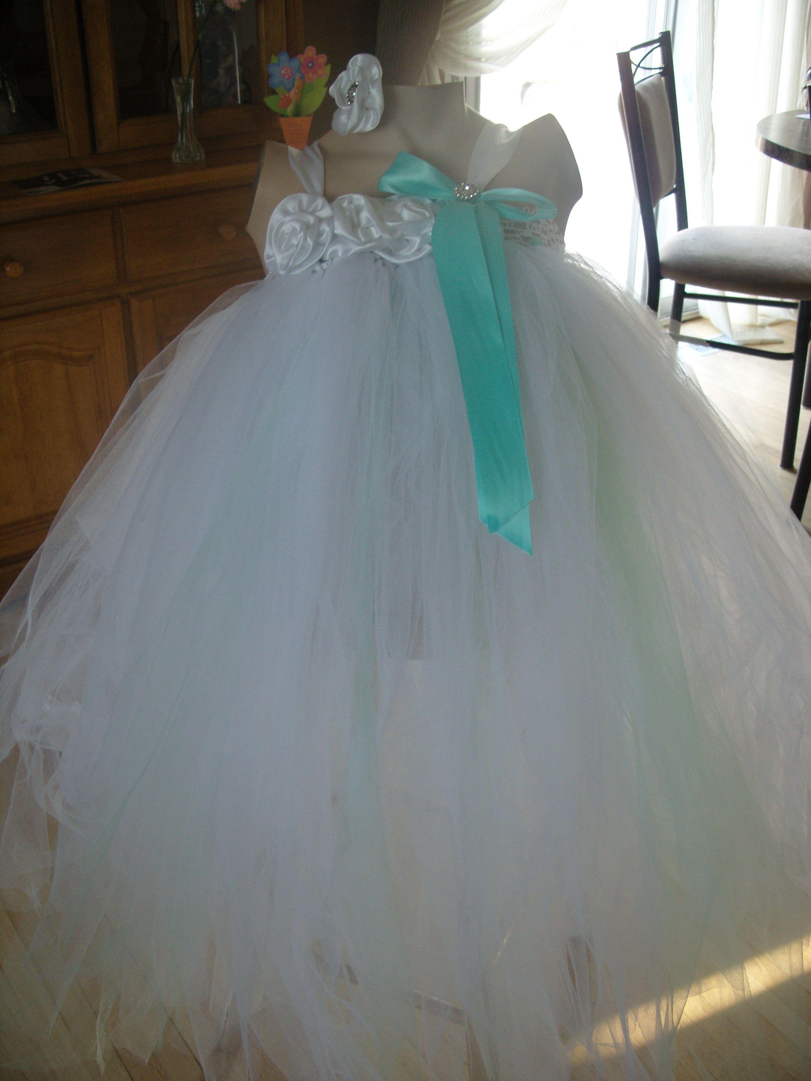 Tu tu cute couture dress beautiful tutu flower girl dress