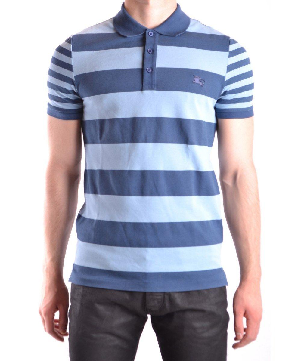 aab9a268026a BURBERRY Burberry Men'S Light Blue/Blue Cotton Polo Shirt'. #burberry  #cloth #polos