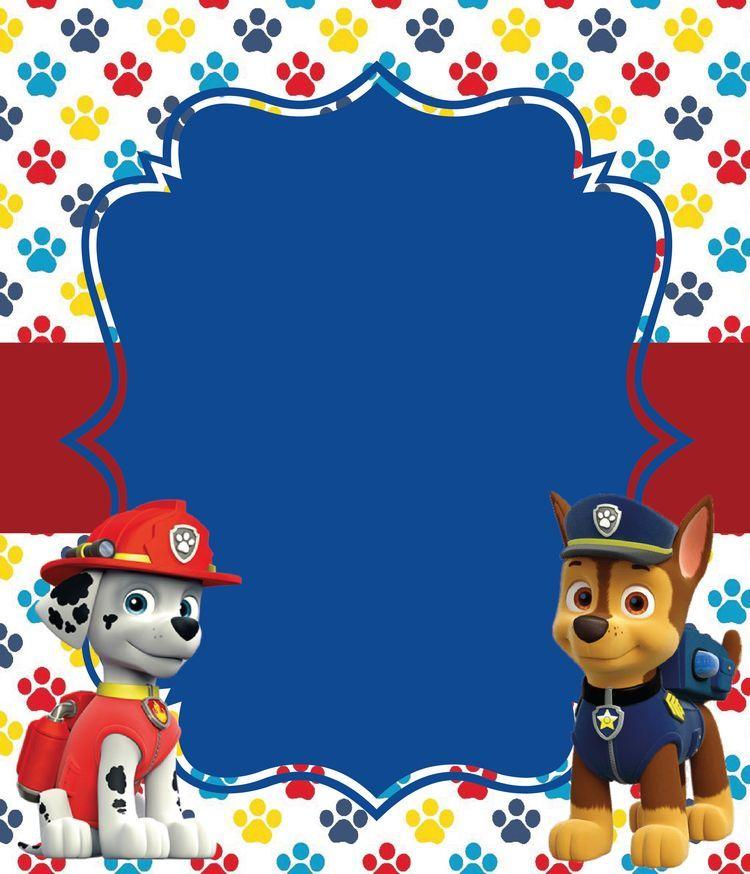 Paw Patrol Fiesta Invitaciones 8pk