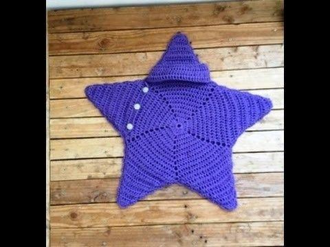 Crochet cocoon étoile bébé très facile. Cocoon crochet star baby ...