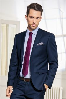 Signature Bright Blue Slim Fit Suit: Jacket from Next | Clothes ...