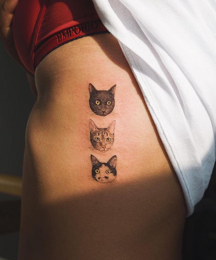 Tattoos, Cute Cat Tattoo