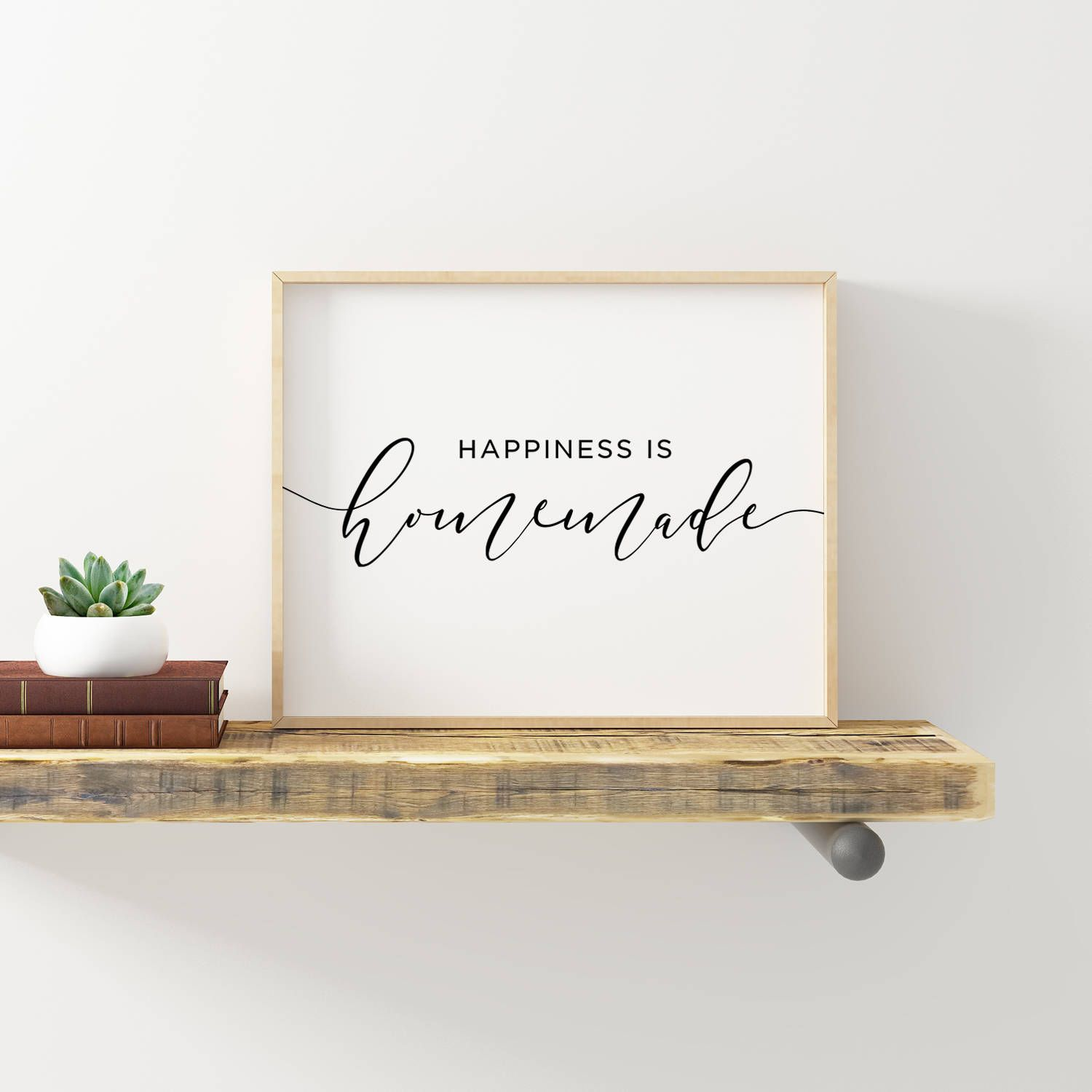 Happiness Is Homemade Printable Farmhouse Decor Kitchen Signs