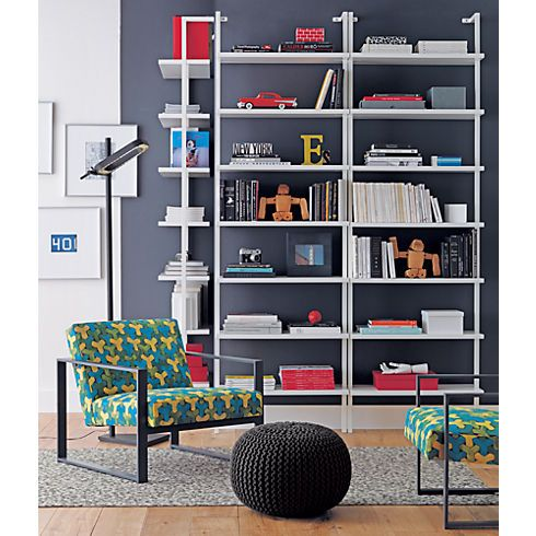 Stairway 96 Wall Mounted Bookcase In Office Furniture Cb2 400 Each Section Use Instead