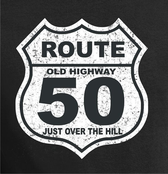 50th birthday gift 50 years old over the hill shirt t shirt gift