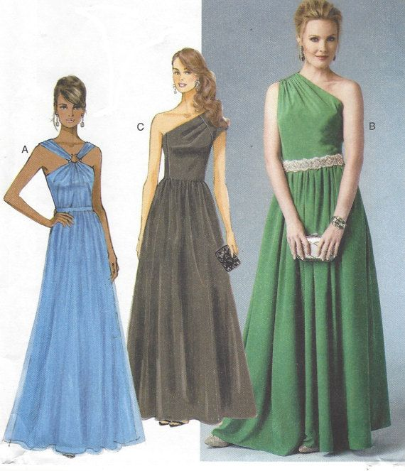 Womens One Shoulder Evening Gown Grecian Style by CloesCloset ...